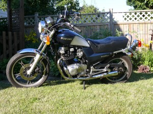 Suzuki 650 Tempter Wife's first bike