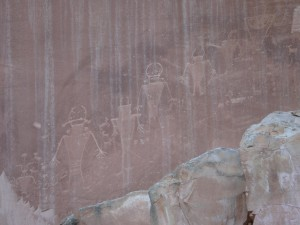Petroglyphs just outside Capitol Reef National Park